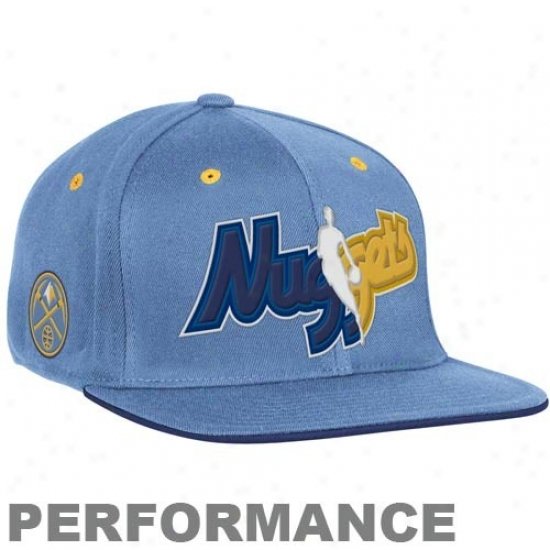 Denver Nugget Hat : Adidas Denver Nugget Light Blue Official Draft Appointed time Fitted Hat