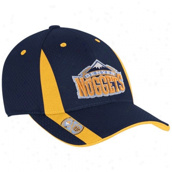 Denver Nugget Hat : Adidas Denver Nugget Navy Blue Swingman Flex Fit Hat