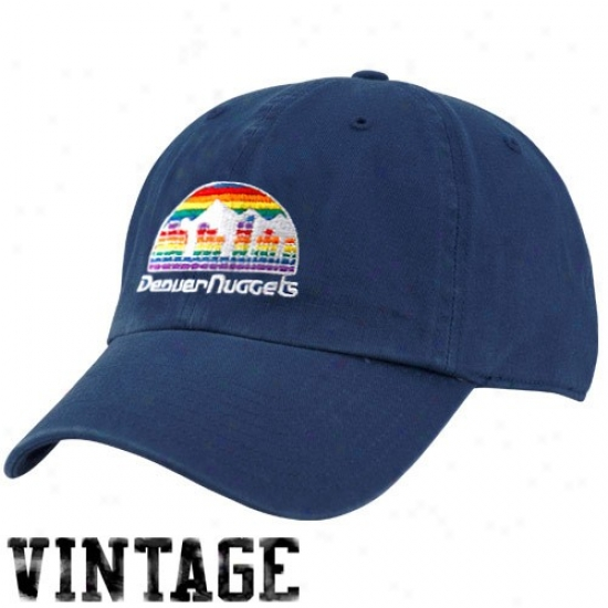 Denver Nugget Hat : Twins '47 Denver Nugget Navy Blue 1987 Vintage Cleanup Adjustable Hat