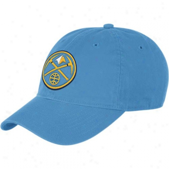 Denver Nugget Hats : Adidas Denver Nugget Light Blue Basic Logo Slouch Adjustable Hats