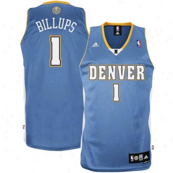 Denver Nugget Jerseys : Adidas Denver Nugget #1 Chauncey Billu0s Light Blue Swingman Basketball Jerseys