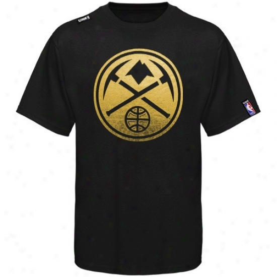 Denver Nugget Tee : Denver Nugget Youth Black Foil Game Tee