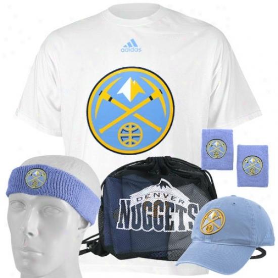 Denver Nuget Tshirt : Adidas Denver Nugget Game Day Value Pack