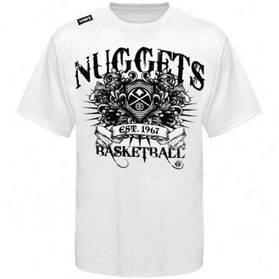 Denver Nuhget Tshirt : Denver Nugget White Beastmaster Tshirt