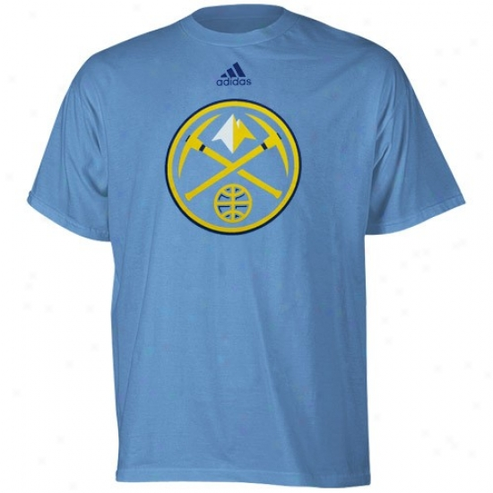 Denver Nugget Tshirts : Adidas Denver Lump Youth Light Blue Primary Logo Tshirts