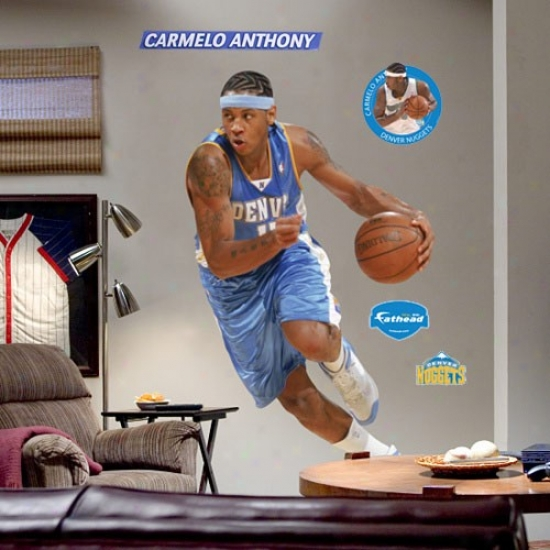 Denver Nuggets #15 Carmelo Anthony Player Fathead
