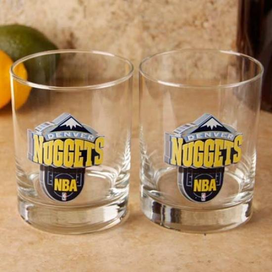 Denver Nuggets 2-pack Enhanced Hi-def 14oz. Executive Rocks Glass
