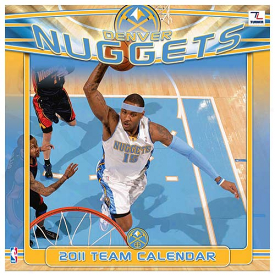 Denver Nuggets 2011 Wall Calendar