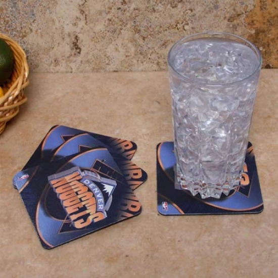 Denver Nuggets 4-pack Sublimated Logo Neoprene Coaster Set