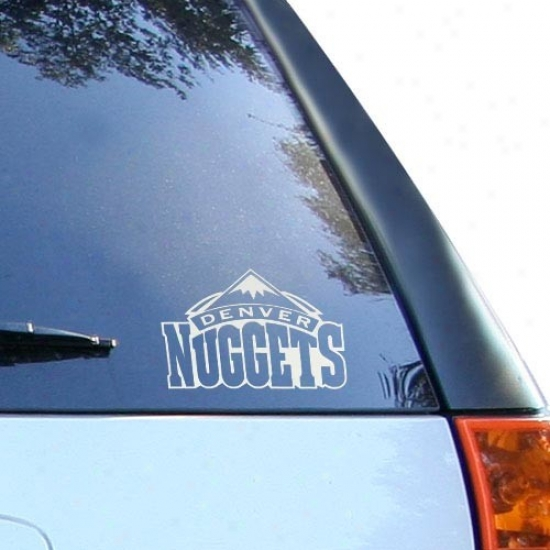 Denver Nuggets 5'' X 6'' Silver Window Graphic Decal