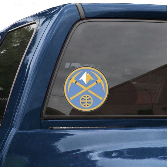 """""""denver Nuggets 8"""""""" X 8"""""""" Color Team Logo Car Decal"""""""