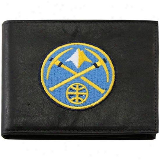 Denver Nuggets Black Leather Billfold Wallet