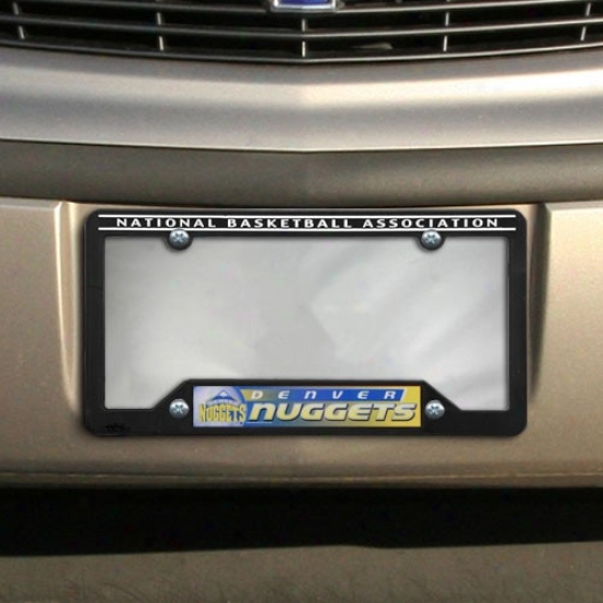 Denver Nuggets Dismal Plastic License Plate Frame