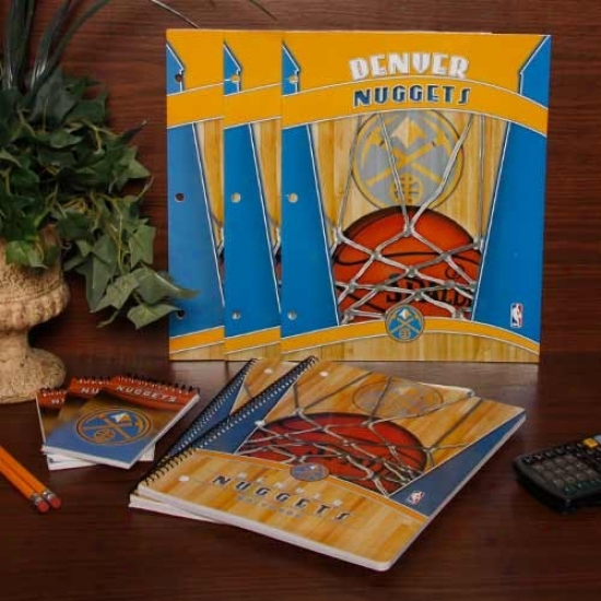 Denver Nuggets Folder, Notebook & Memo Pad School Combo Pack