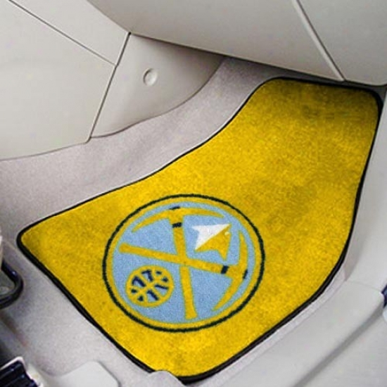 Denver Nuggets Gold 2-piece Carpet Car Mat Set