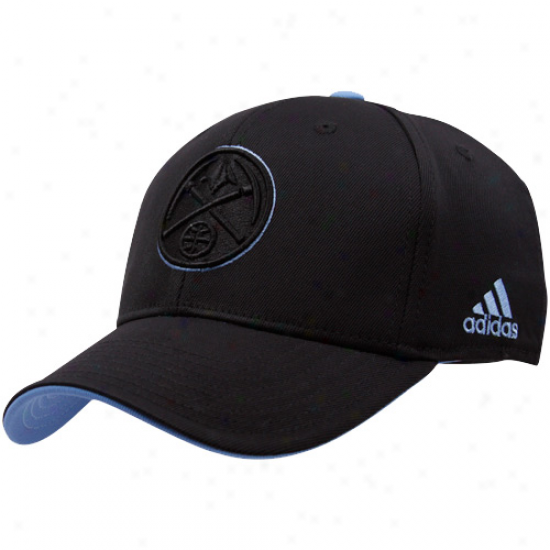 Dener Nuggets Hats : Adidas Denver Nuggets Black Tonal Flex Fit Hats