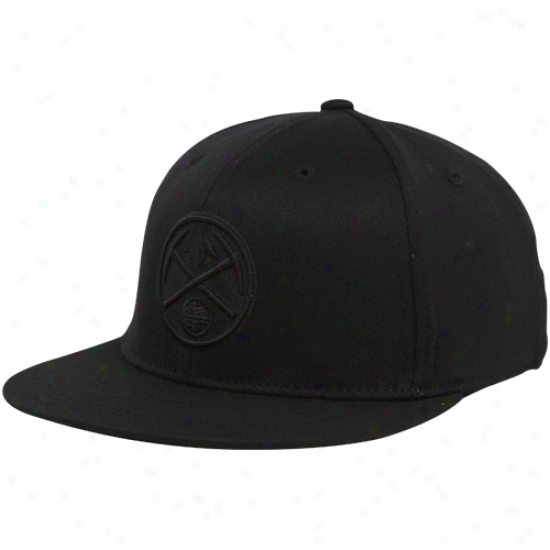 Denver Nuggets Hats : Adidas Denver Nuggets Black Tonal 210 Fitted Flex Hats