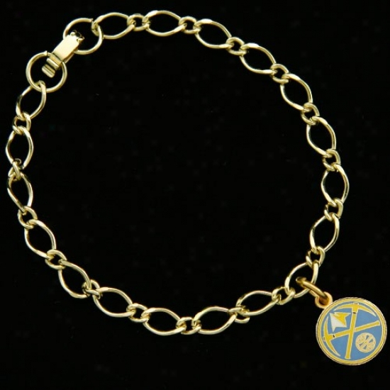Denver Nuggets Ladies Gold-tone Chqrm Bracelet