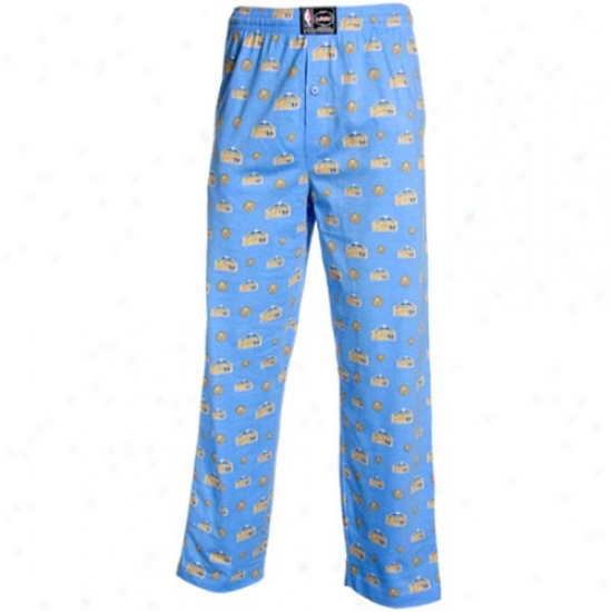 Denver Nuggets Light Blue My Team Pajama Pants