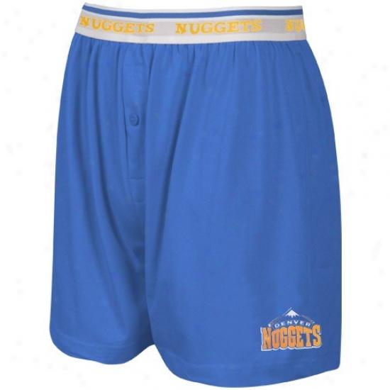 Denver Nuggets Light Blue Team Logo Boxer Shorts