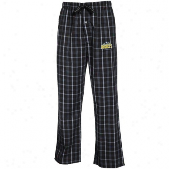 Denver Nuggets Navy Blue Plaid Genuine Pajama Pants