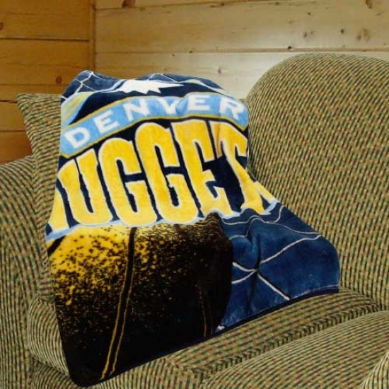 Denver Nuggets Navy Blue Mirror Plush Blanket Throw