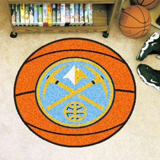 Denver Nuggets Orange Round Basketball Mat
