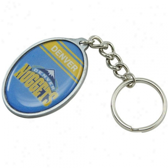 Denver Nuggets Oval Keychain