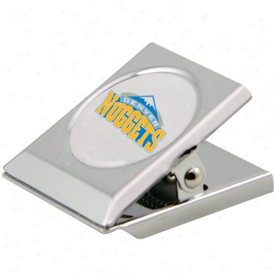 Denver Nuggets Silver Magnetic Heavy Duty Chip Clip