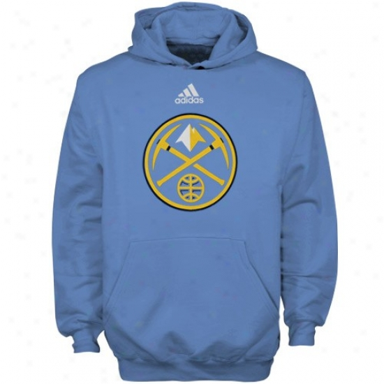 Denver Nuggets Sweatshirt : Adidas Denver Nuggets Youth Light Blue Team Logo Sweatshirt