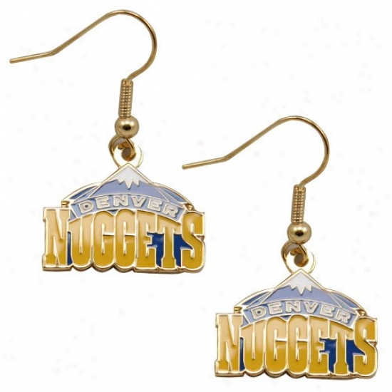Denver Nuggets Team Logo Dangle Earrings