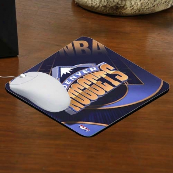 Denver Nuggets Team Logo Neoprene Mousepad