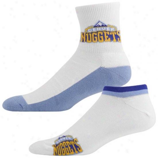 Denver Nuggets White-light Blue Two-pack Socks
