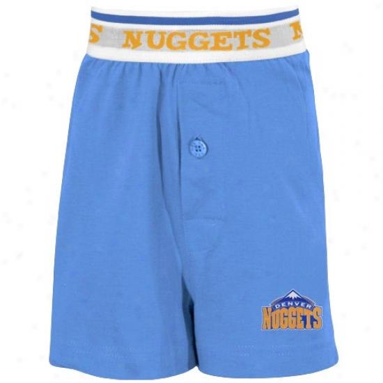 Denver Nuggets Youth Light Blue Solid Banded Boxer Shorts