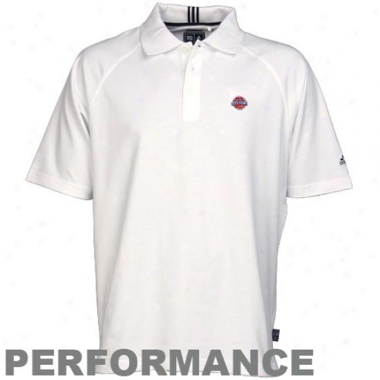 Detroit Piston Clothing: Adidas Detroit Piston Pure Climalite Polo