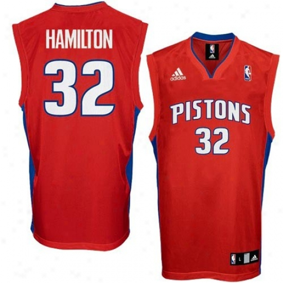 Detroit Piston Jerseys : Adidas Detroit Piston #32 Richard Hamilton Youth Red Replica Basketball Jerseys