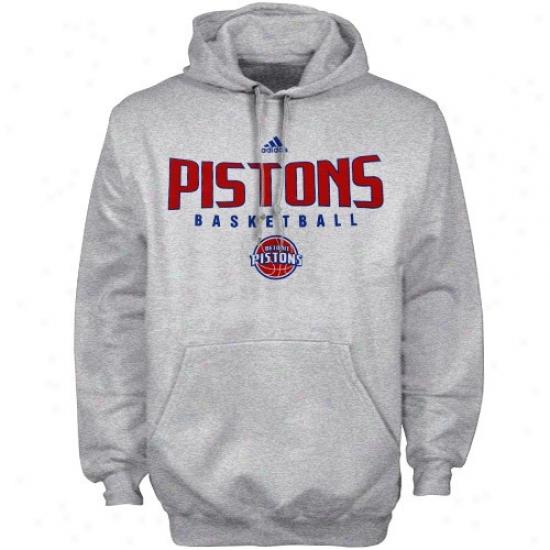 Detroit Piston Stuff: Adidas Detroit Piston Ash Positive Hoody Sweatshirt