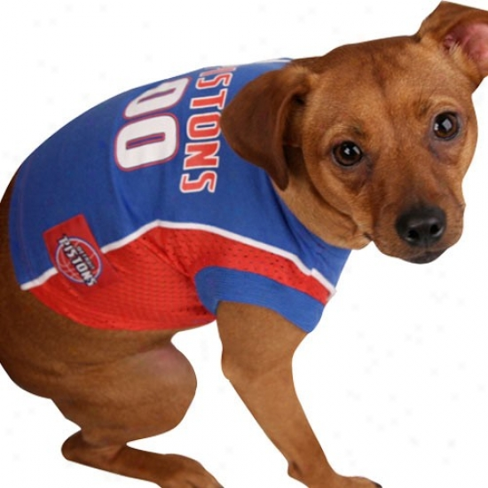 Detroit Pistons #00R oyal Blue Pet Basketball Jersey