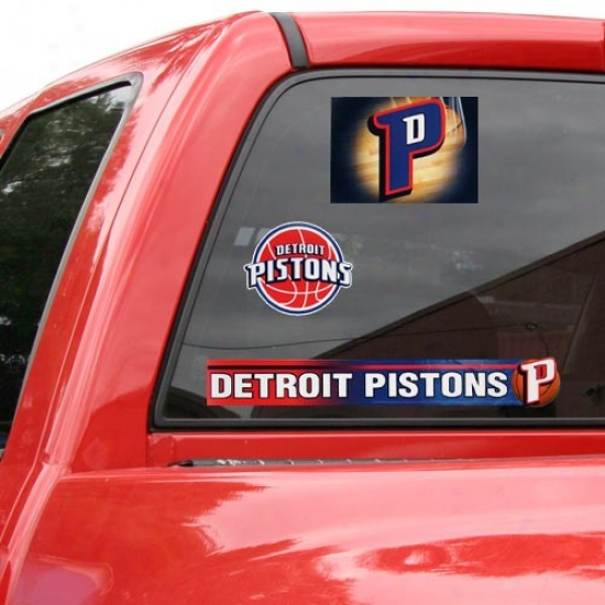 Detroit Pistons 11x17 Window Clings Sheet