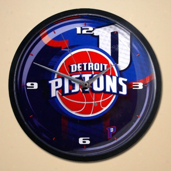 Detroit Pistons 12'' Wall Clock