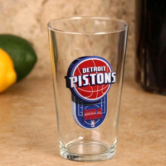 Detroit Pistons 17 Oz. Enhanced Hi-def Mixing Glass