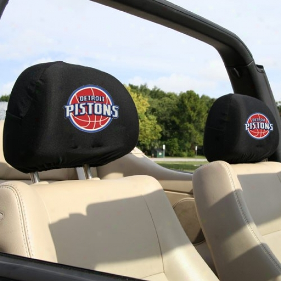 Detroit Pistoms 2-pack Headrest Covers