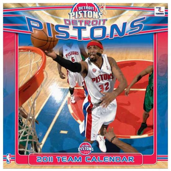 Detroit Pistons 2011 Wall Calendar