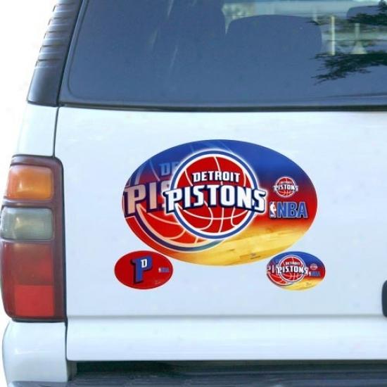 Detroit Pistons 3-pack Magnet Set