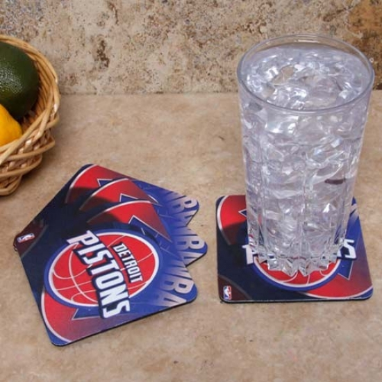 Detroit Pistons 4-pack Sulbimated Logo Neoprene Coaster Set