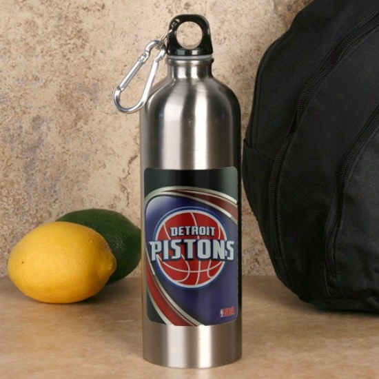 Detroit Pistons 750ml Stqinless Seel Take in ~ Botyle W/ Carabiner Clip