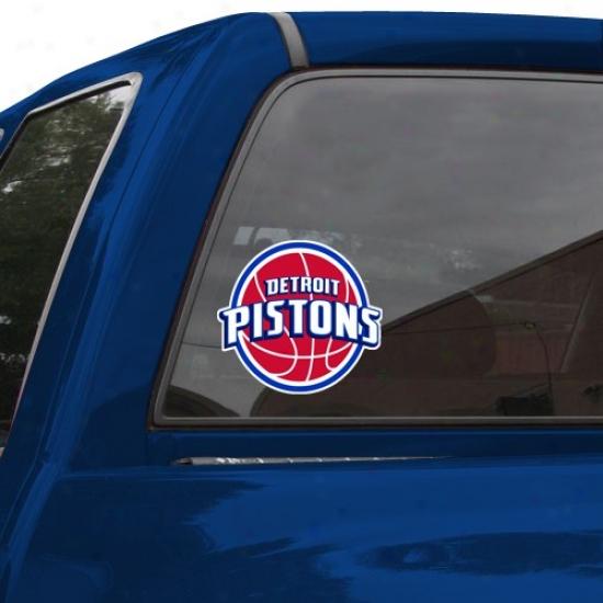 """""""detroit Pistons 8"""""""" X 8"""""""" Color Team Logo Car Decal"""""""