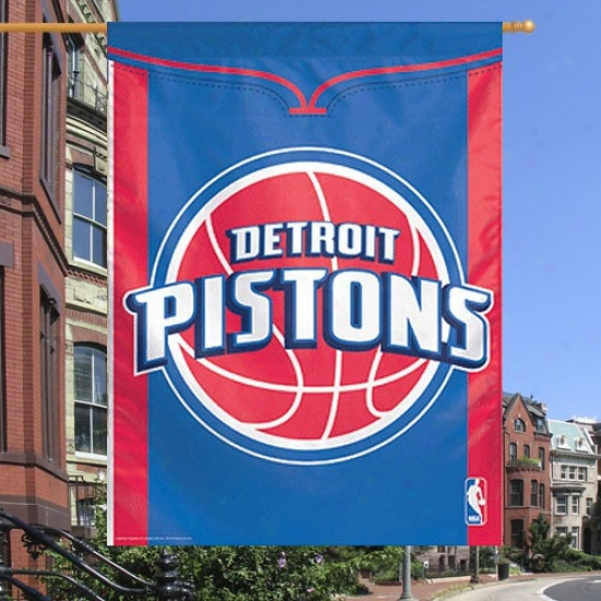 Detroit Pistons Banners : Detroit Pistons 27x37 Team Logo Banners Banners