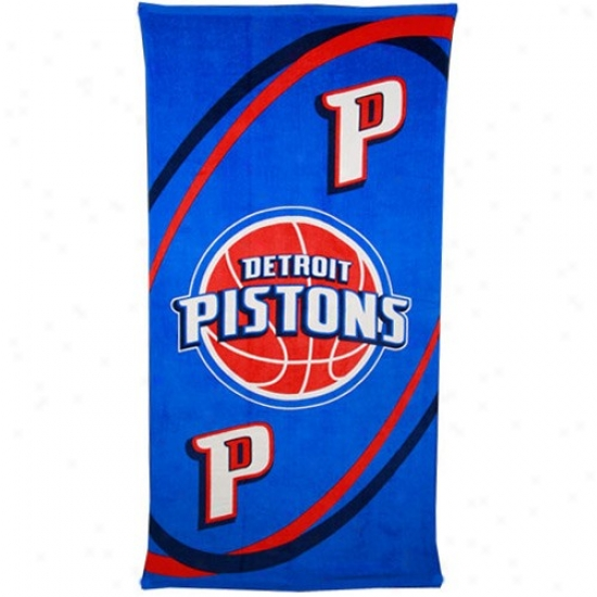 Detroit Pistons Beach Towel