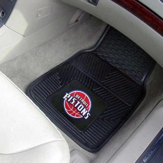 Detroit Pistons Black 2-piece Vinyl Car Mat Set